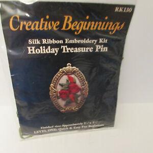 Holiday Pin Kit Creative Beginnings  Silk Ribbon Embroidery Kit