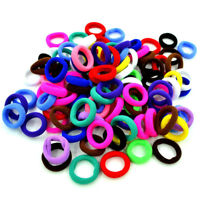 100pcs Girls Elastic Hair Band Hair Rope Rubber Band Scrunchie Ponytail Holders