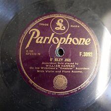 78rpm WILLIAM HANNAH excelsior accordion ; o riley jigs / irish memories