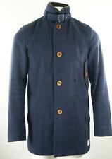 "Men's G-Star 'Decoy Wool Garber Trench' Coat size M 38-40"" in Navy Blue RRP £275"