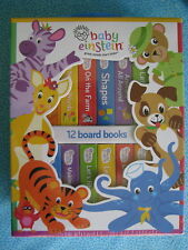 BABY EINSTEIN BOOK BLOCK 12 BOARD BOOKS NEW SEALED MUSIC COUNT DISNEY FARM ANIMA