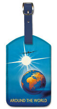 Leatherette Travel LUGGAGE TAG Baggage Label VINTAGE AIR FRANCE ART Around World