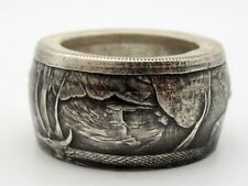 Níðhöggr Legendary Viking Dragon coin ring  from pure Silver coin. Can size 8-15