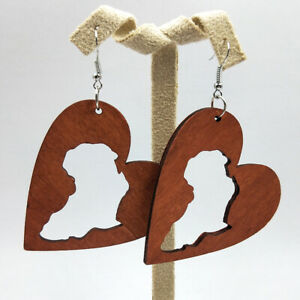 1 pair Good Quality Hollow Woman Wooden Earrings Pendant