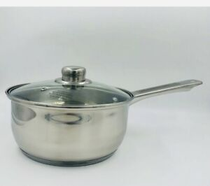 20CM SAUCEPAN WITH GLASS LID STAINLESS STEEL