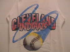 1994 BOYS YOUNG MENS CLEVELAND INDIANS BASEBALL SUMMER SHIRT SIZE LARGE 14-16