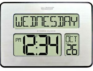 La Crosse Technology Atomic Digital Wall Clock with Backlight