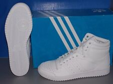 MENS ADIDAS TOP TEN HI in colors FTW WHITE / FTW WHITE / FTW WHITE SIZE 8