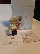 Cherished Teddies*Bear with Flower Pot & Watering Can*New*Cedric*Garden*402 7224
