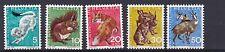 Svizzera 1966 PRO JUVENTUTE SG J 212-J 216 Set di 5 MNH