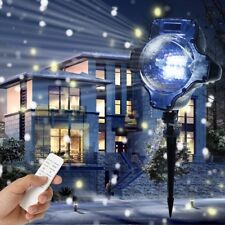Snowfall Snow Flurry Lightshow Christmas SnowFlake LED Projector Light W/remote