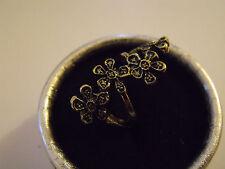 Bague Ring Anello Fleurs Flowers étain T. 7 Size 7/ New