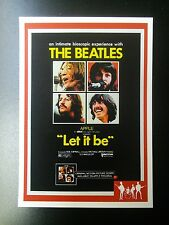 LET IT BE - BEATLES RARITIES trade card - RED 'Movie Posters' series