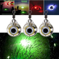 LED Deep Drop Underwater Fish Attracting Lure Fishing Strobe Flash Light Bait