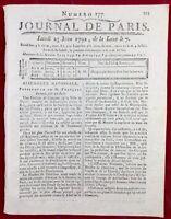 Louis 16 1792 Journées de Juin Garde Nationale Somme Clergé Révolution Dijon