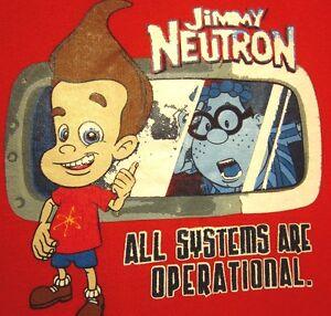JIMMY NEUTRON youth med sweatshirt Nickelodeon cartoon crewneck size 5-6 genius