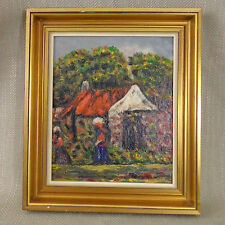 Vintage Original Oil Painting South African Cape Dutch Signed Alice Swanepoel