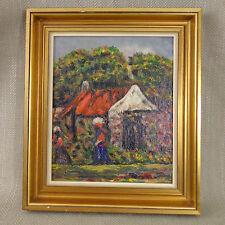 Vintage Original Pintura al Óleo sudafricano Cape holandés firmado Alice Swanepoel