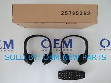 2005-2012 GM Chevy REAR ENTERTAINMENT HEADSETS HEADPHONES TV DVD REMOTE Control