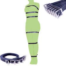 7Pcs Set Lockable Leather Belt Slave Full Body Harness Strap Restraint Cuffs Toy