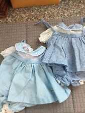 Vintage lot of TWO DRESSES ORIGINAL CABBAGE PATCH KIDS DOLL CLOTHES 4 Pieces