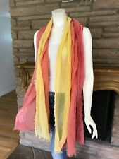Gorgeous!!!! Anthropologie Remi and Reid Scarf shawl yellow/coral