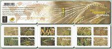 france 2017 booklet harvest cereals moisson cereales corn wheat barlet rice 12v