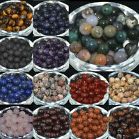 Wholesale Natural Gemstone Round Spacer Loose Beads Bracelets Jewelry Making BJ