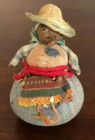 """Guatemalan Woman Doll, Hand Woven, 5"""" Tall and Excellent Condition!"""