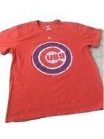 Majestic Chicago Cubs Short Sleeve Red T Shirt Men Sz Medium