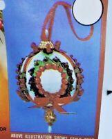 Walco HOLLY WREATH Satin Ball Vintage Sequin Bead Christmas Ornament Kit Makes 1