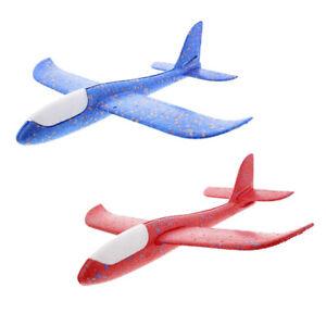 Gleitflieger Styropor-Flieger XXL Wurfgleiter Flugzeug 50cm Blau Rot