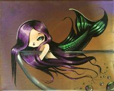 Big Eyed Mermaid Fairy Fantasy Art original painting Nico Niemi