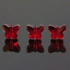 6pcs Swaro/vski  5x6x10mm Butterfly Crystal beads A Red