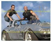 VIN DIESEL AND PAUL WALKER AUTOGRAPHED 8x10 RP PHOTO THE FAST AND FURIOUS CAST