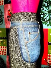 CHRISTIAN LACROIX JUPE HOLSTER SKIRT   BIMATIERE TRICOT LEGER JEAN 34/36