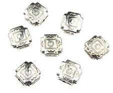 50 Antique Silver Fancy Cross Plastic Beads 10MM