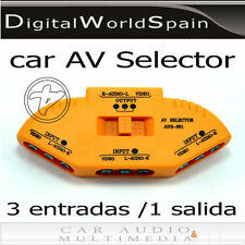 SWITCH SELECTOR DE AV.CONECTA 3 DISPOSITIVOS POR RCA!