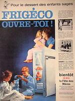 PUBLICITÉ FRIGÉCO POUR LE DESSERT DES ENFANTS SAGES - FREEZER GÉANT- MOLINARD