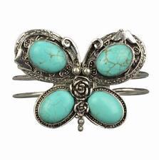 Nature Simple Pretty Huge Tibet Silver Butterfly Cuff VTG Bangle Bracelet RA260K