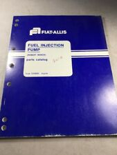Fiat Allis Robert Bosch Fuel Injection Pump Parts Catalog
