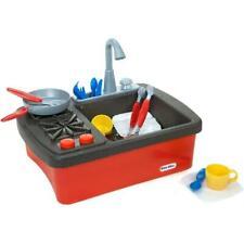 Little Tikes Splish Splash Sink & Stove Play Toddlers Kids Plates Cups Spoon New