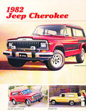 1982 Jeep Cherokee Chief and Laredo Original Car Sales Brochure Folder
