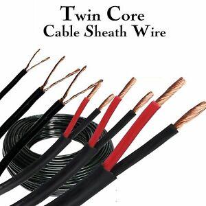 Twin Core Wire Copper Vehicle Camper RV Van Marine Solar PVC Sheath Insulation
