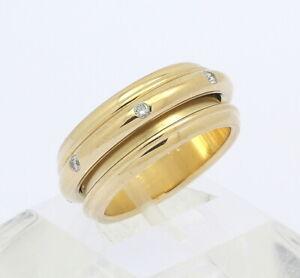 ♦ PIAGET Drehring Ring 18 kt 18k 750er Gelb Gold mit Brillanten Brillant Diamant