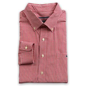 Vineyard Vines By Shep & Ian Mens Red White Check Tucker Shirt Button Down Sz XL