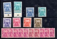 France 1943-1946 Postage Due mostly MNH collection to 20F WS20995