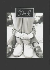 PAPYRUS FATHER'S DAY CARD NIP (MSRP $5.95) BLACK FLOCKED CARD (B)
