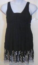 Mustard Seed juniors size S small black lace empire waist dress j208