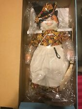 """Goebal Betty Jane Carter """"CANDY CORN"""" Musical Porcelain Cat Bette Ball DOLL NEW"""